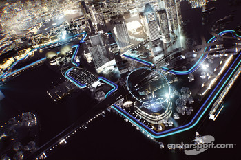 Singapore Street Circuit, computer generated images
