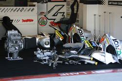 MotoGP motorcycle broken down
