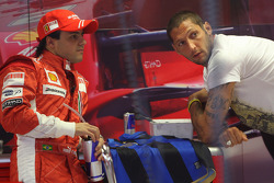Felipe Massa, Scuderia Ferrari with Marco Materazzi, Italian Football player for Inter Milan