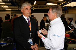 Michel Barge with Peugeot CEO Jean-Philippe Collin