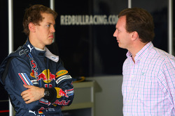 Sebastian Vettel, Red Bull Racing with Christian Horner, Red Bull Racing, Sporting Director