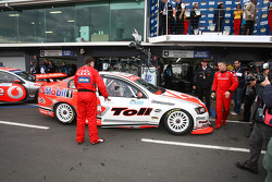 Garth Tander and Mark Skaife win the LandH 500 (Toll Holden Racing Team Commodore VE)