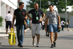 Giancarlo Fisichella, Force India F1 Team and his manager Enrico Zanarini