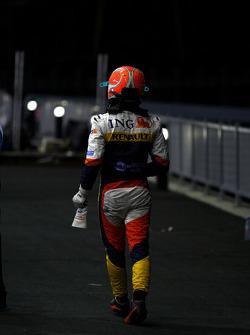 Nelson A. Piquet, Renault F1 Team, crashes