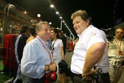 Jean Todt, Scuderia Ferrari, Ferrari CEO with Norbert Haug, Mercedes, Motorsport chief