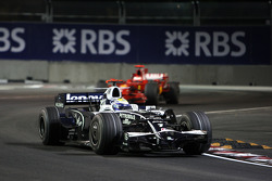 Nico Rosberg, WilliamsF1 Team, FW30 leads Kimi Raikkonen, Scuderia Ferrari, F2008