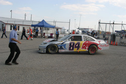 Mike Skinner heads to the garage for damage repair
