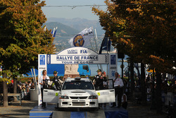 Podium: Juho Hanninen and Mikko Markkula, Mitsubishi Lancer Evolution IX