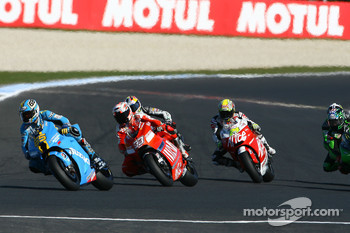 Loris Capirossi, Marco Melandri and Toni Elias