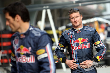 Red Bull Racing photoshoot: Mark Webber and David Coulthard