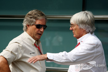 Alan Woollard and Bernie Ecclestone, President and CEO of Formula One Management