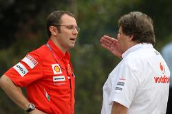 Stefano Domenicali, Scuderia Ferrari, Sporting Director, Norbert Haug, Mercedes, Motorsport chief