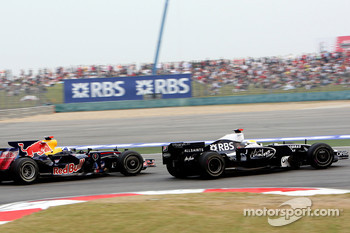 David Coulthard, Red Bull Racing and Nico Rosberg, WilliamsF1 Team