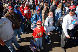 A young Carl Edwards fan in the crowd