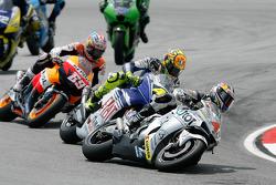 Andrea Dovizioso, Valentino Rossi and Nicky Hayden