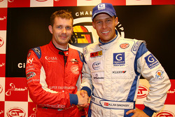 GT2 pole winner Andrew Kirkaldy and GT1 pole winner Allan Simonsen