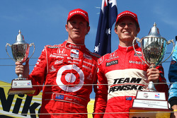 Podium: race winner Ryan Briscoe, second place Scott Dixon