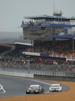 Timo Scheider, Audi Sport Team Abt, Audi A4 DTM and Bernd Schneider, Team HWA AMG Mercedes, AMG Mercedes C-Klasse