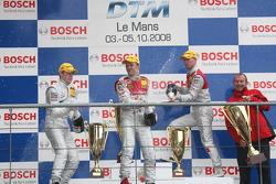 Podium: race winner Mattias Ekström, second place Paul di Resta, third place Alexandre Prémat, Harry Unflath, Marketing Manager Abt-Audi