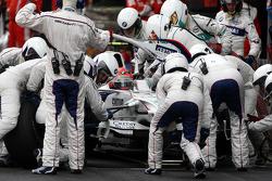 Pitstop, Robert Kubica,  BMW Sauber F1 Team