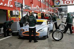 Pit stop practice; Aston Martin Racing Aston Martin Vantage V8
