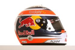 Neel Jani, driver of A1 Team Switzerland helmet