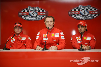 Press conference: Kimi Raikkonen, Stefano Domenicali and Felipe Massa