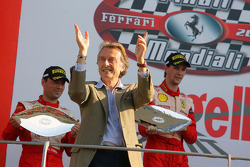 Sunday Trofeo Pirelli race: Luca di Montezemolo on the podium