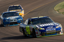 Jimmie Johnson leads Kurt Busch and Jamie McMurray