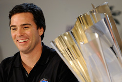 Jimmie Johnson jokes with reporters during the 2008 Championship Contenders Press Conference