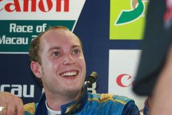 Robert Huff after winning the final race