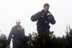 Launceston, Australia: Team RBS cross the peak of Mount Claude