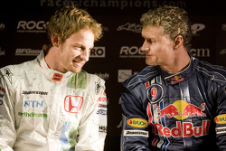 Jenson Button and David Coulthard at the Race of Champions media preview press conference