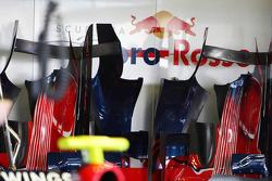 The Scuderia Toro Rosso garage