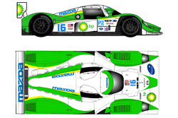 Rendering of the 2009 Dyson Racing Lola Mazda LMP2 coupe