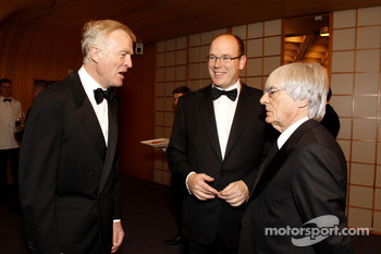 FIA President Max Mosley, His Serene Highness Prince Albert of Monaco and Formula One Management CEO Bernie Ecclestone
