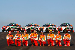 Repsol Mitsubishi Ralliart Team: driver Stéphane Peterhansel and co-driver Jean-Paul Cottret, driver Luc Alphand and co-driver Gilles Picard, driver Hiroshi Masuoka and co-driver Pascal Maimon, driver Nani Roma and co-driver Lucas Cruz Senra