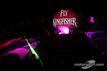 Sakon Yamamoto Renault Test Driver DJing on the Fly Kingfisher boat party on the Indian Empress