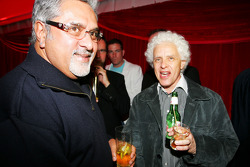Dr Vijay Mallya Force India F1 Team Owner with Jorge Sutil The father of Adrian Sutil at the Fly Kingfisher Boat Party