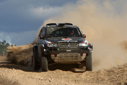 X-raid team: Miguel Barbosa and Miguel Ramalho test the #313 BMW X3 CC