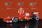 Kimi Raikkonen with the new Ferrari F60