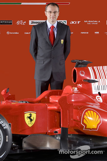 Team director Stefano Domenicali with the new Ferrari F60