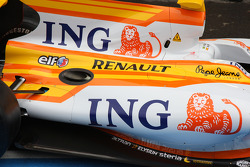 Detail of the new Renault R29