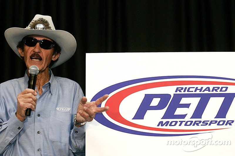 NASCAR Sprint Cup Series legend Richard Petty speaks with the media, unveiling the Richard Petty Motorsports logo