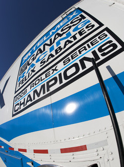 #01 Chip Ganassi Racing with Felix Sabates transporter