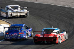 #63 TRG Porsche GT3: Kurt Kossmann, Bruce Ledoux, David Quinlan, Dan Watkins, Steve Zadig, #01 Chip Ganassi Racing with Felix Sabates Lexus Riley: Juan Pablo Montoya, Scott Pruett, Memo Rojas