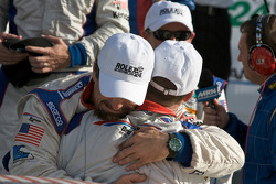 DP victory lane: race winner David Donohue celebrates with JC France