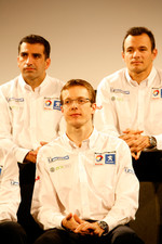 Marc Gene, Sbastien Bourdais and Stphane Sarrazin