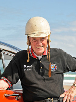 Living legends of auto racing beach parade: Russ Truelove