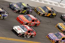 Robby Gordon, Robby Gordon Motorsports Dodge, Reed Sorenson, Richard Petty Motorsports Dodge, Jeremy Mayfield, Mayfield Motorsports Toyota